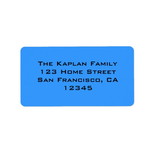 Zachary Blue Black Envelope Seal Address Label