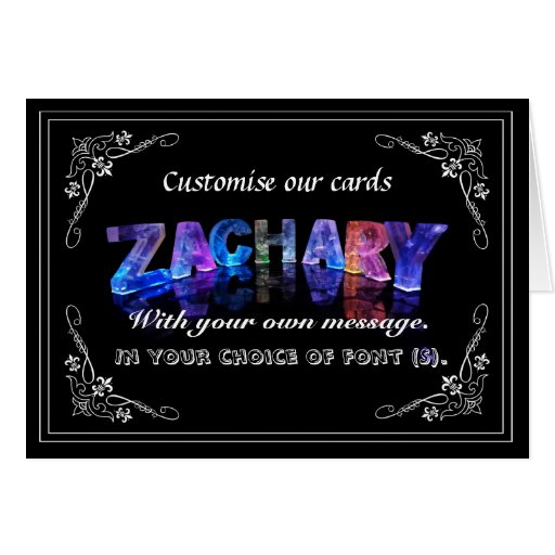 Zachary -  Name in Lights greeting card (Photo)