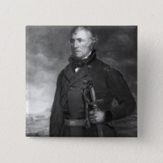 Zachary Taylor, 12th President of the United State 15 Cm Square Badge