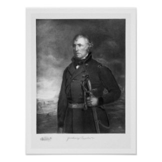Zachary Taylor, 12th President of the United State Poster