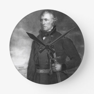Zachary Taylor, 12th President of the United State Round Clock