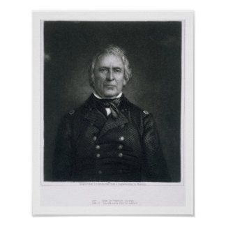Zachary Taylor, engraved after a daguerrotype by T Poster