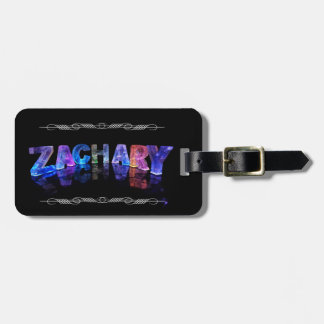 Zachary  - The Name Zachary in 3D Lights (Photogra Luggage Tag