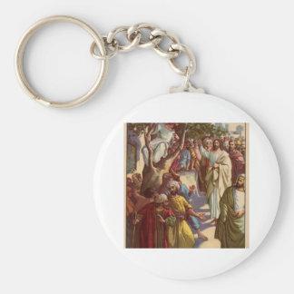 Zacheus sees Jesus Basic Round Button Key Ring