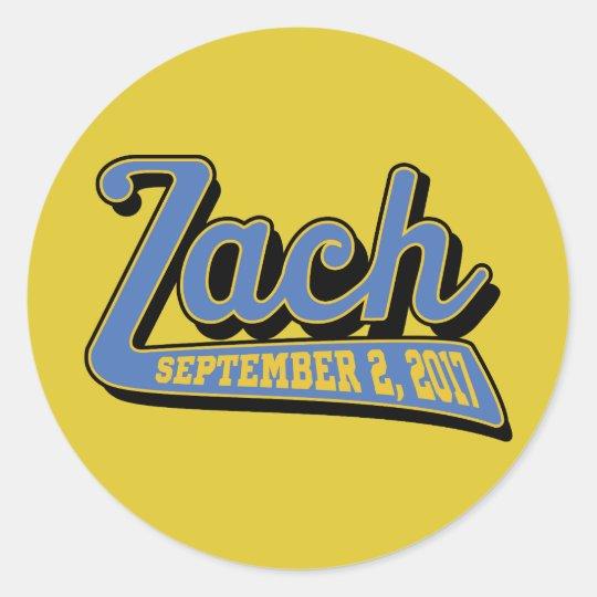 zach's bar mitzvah classic round sticker
