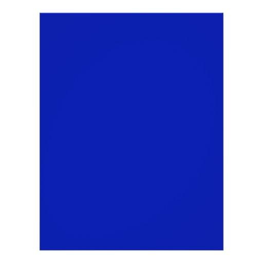 Zaffre Blue Classic Colored Full Color Flyer