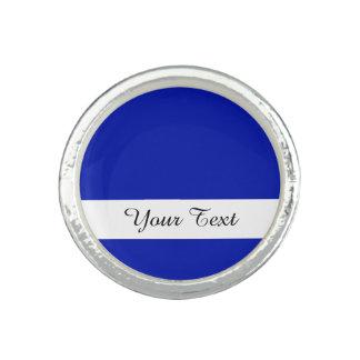 Zaffre Blue Classic Colored Rings