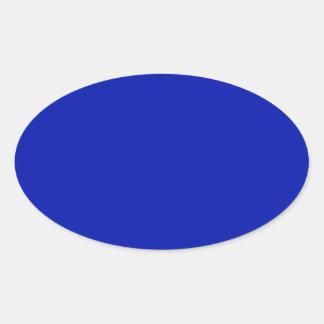 Zaffre Blue Classic Colored Oval Stickers