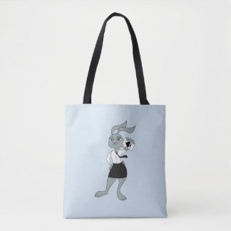 Zaikai the rabbit tote bag