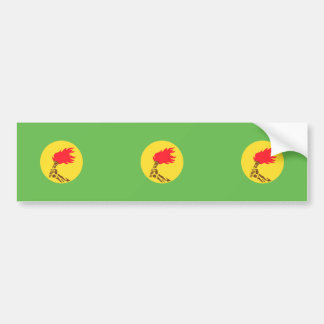 Zaire, Democratic Republic of the Congo flag Bumper Sticker