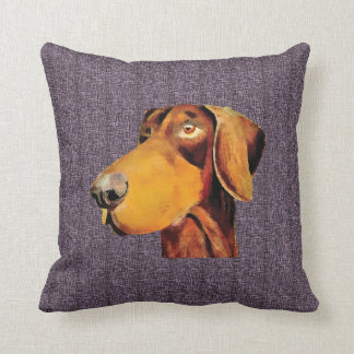 Zak the doberman throw pillow