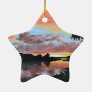Zambezi River Reflections Christmas Ornament