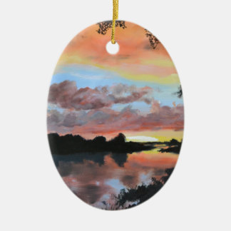 Zambezi River Reflections Christmas Ornament