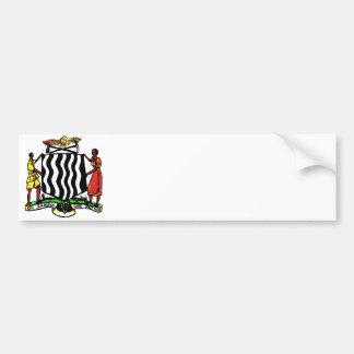 Zambia, Africa, Coat of Arms Bumper Sticker