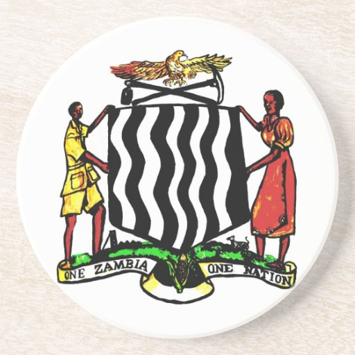 Zambia, Africa, Coat of Arms Coaster