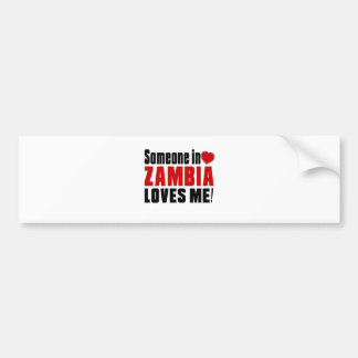ZAMBIA Celebrating Years Of Being Awesome Bumper Sticker
