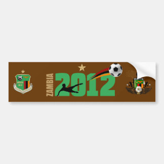 Zambia Champions Emblem Badge Crest 2012 Bumper Sticker