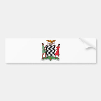 Zambia Coat of Arms Car Bumper Sticker