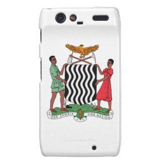 Zambia Coat of Arms Motorola Droid RAZR Cover