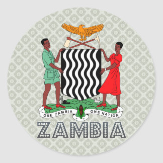Zambia Coat of Arms Classic Round Sticker