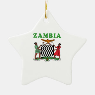 Zambia Coat Of Arms Designs Ceramic Star Decoration
