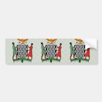 Zambia Coat of Arms detail Bumper Sticker