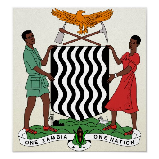 Zambia Coat of Arms detail Posters