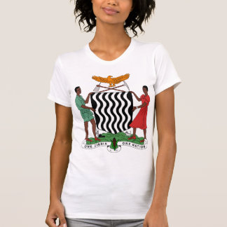 Zambia Coat of Arms detail T Shirts