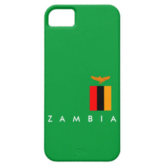 zambia country flag nation symbol text name iPhone 5 case