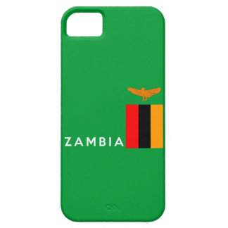 zambia country flag text name iPhone 5 covers