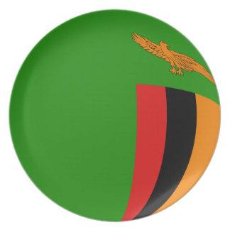 Zambia Fisheye Flag Plate