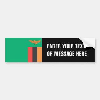 Zambia Flag Bumper Sticker
