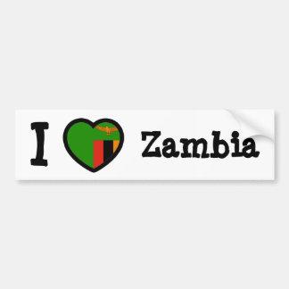 Zambia Flag Bumper Stickers