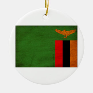 Zambia Flag Christmas Ornament