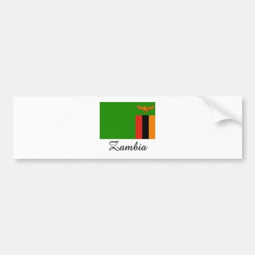 Zambia Flag Design Bumper Stickers