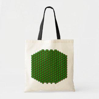 Zambia Flag Hearts Bag