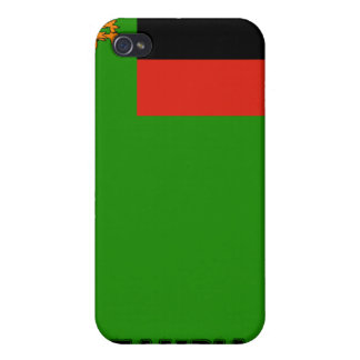 Zambia flag iPhone 4 case