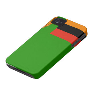Zambia Flag iPhone 4 Case-Mate Cases