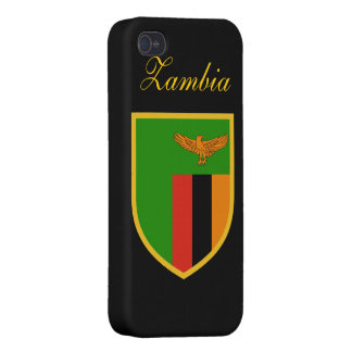 Zambia Flag Case For iPhone 4