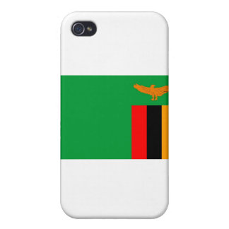 Zambia flag iPhone 4/4S cases
