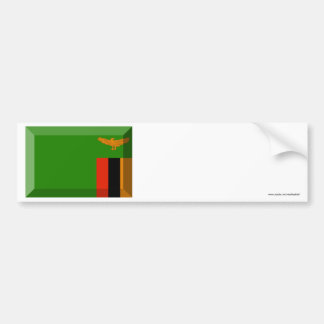 Zambia Flag Jewel Bumper Sticker