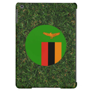 Zambia Flag on Grass Case For iPad Air