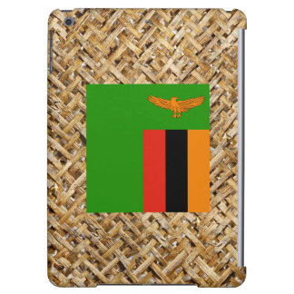 Zambia Flag on Textile themed