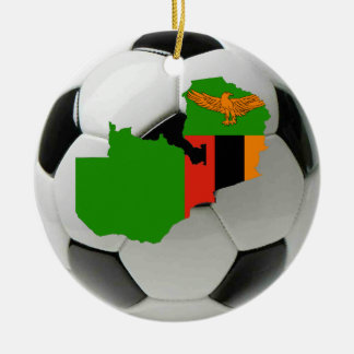 Zambia football soccer ornament