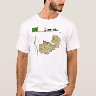 Zambia Map + Flag + Title T-Shirt