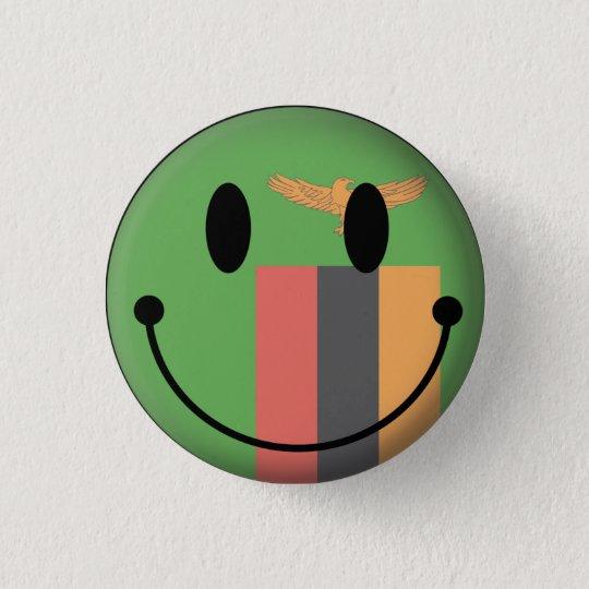 Zambia Smiley 3 Cm Round Badge