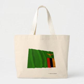 Zambia Waving Flag Jumbo Tote Bag