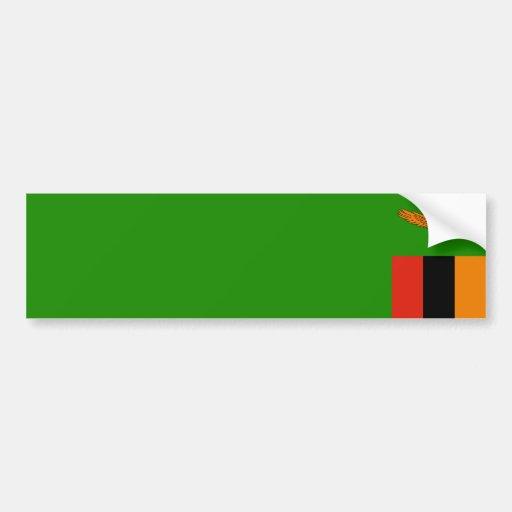 Zambia/Zambian Flag Bumper Sticker
