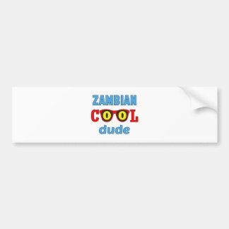 Zambian Cool Dude Bumper Sticker