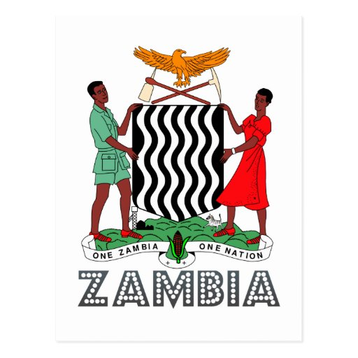 Zambian Emblem Post Card